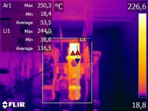 termografia quadro elettrico