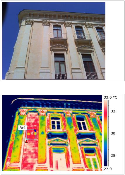 Termografia facciata edifici